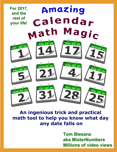 Amazing Calendar Math by MisterNumbers
