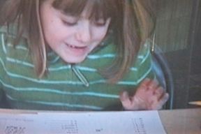 Sarah Jane learns the EZ Times Table