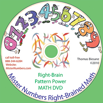 Mister Numbers DVD Right Brain Math Pattern Power